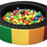 Childrens ball pool Rainbow Pattern Round