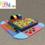 Indoor outdoor soft play equipment set with Large kids ball pit And much more